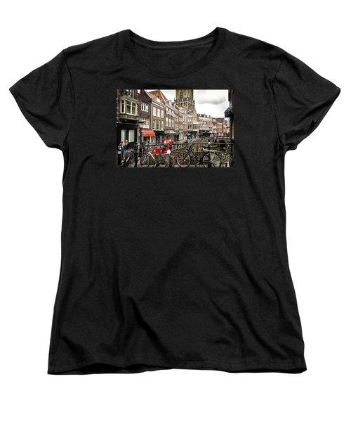 Women's T-Shirt (Standard Cut) featuring the photograph The Vismarkt In Utrecht by RicardMN Photography