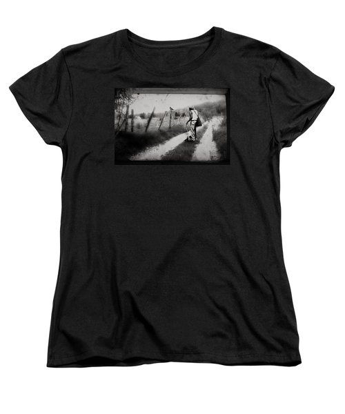 Women's T-Shirt (Standard Cut) featuring the photograph The Way Of The Crow by Gray  Artus