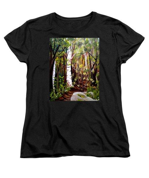 The Woodland Trail Women's T-Shirt (Standard Cut) by Renate Nadi Wesley
