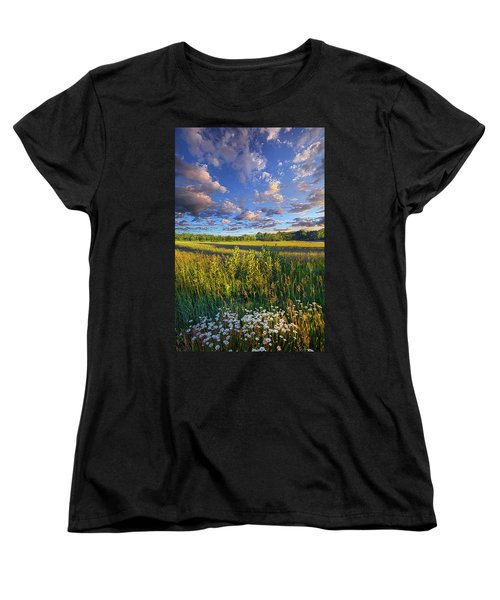 The World Is Quiet Here Women's T-Shirt (Standard Cut) by Phil Koch