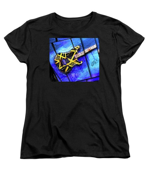 The Yellow Jacket_cropped Women's T-Shirt (Standard Cut) by Gary Bodnar
