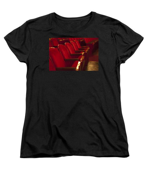 Women's T-Shirt (Standard Cut) featuring the photograph Theater Seating by Carolyn Marshall