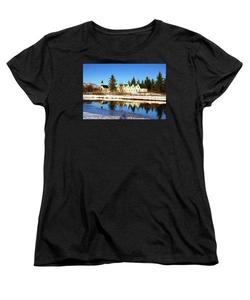 Women's T-Shirt (Standard Cut) featuring the photograph Thingvellir Iceland  by Matthias Hauser