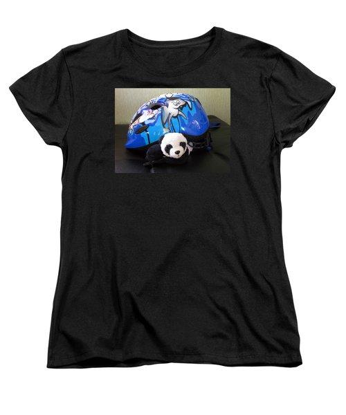 Women's T-Shirt (Standard Cut) featuring the photograph This Helmet Is So Heavy Ugh by Ausra Huntington nee Paulauskaite