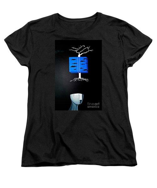 Thought Block Women's T-Shirt (Standard Cut) by Fei A