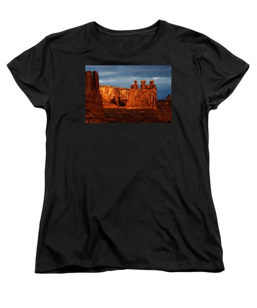 Women's T-Shirt (Standard Cut) featuring the photograph Three Gossips by Harry Spitz