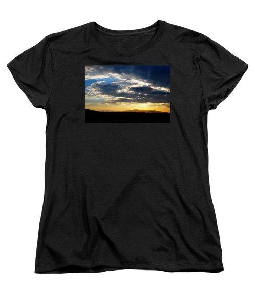 Three Peak Sunset Swirl Skyscape Women's T-Shirt (Standard Cut)