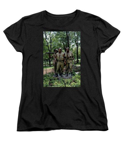Three Servicemen Women's T-Shirt (Standard Cut) by LeeAnn McLaneGoetz McLaneGoetzStudioLLCcom