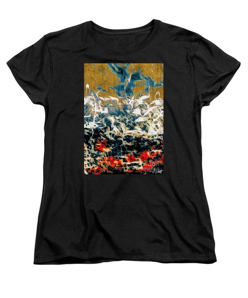 Women's T-Shirt (Standard Cut) featuring the photograph Through The Cracks by William Wyckoff