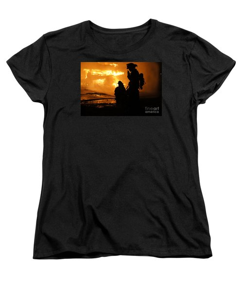 Through The Flames Women's T-Shirt (Standard Cut) by Benanne Stiens