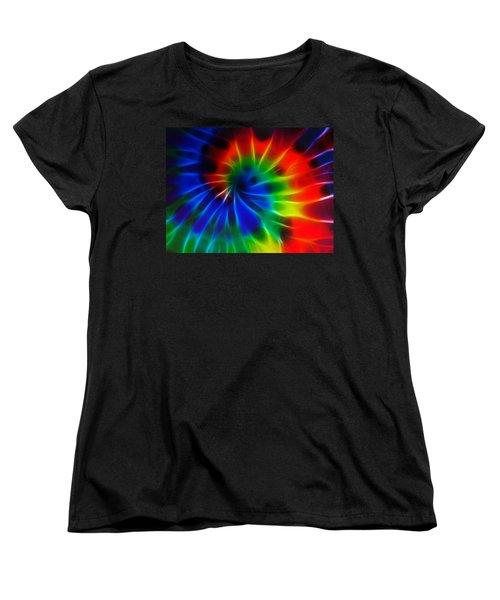Tie Dye Women's T-Shirt (Standard Cut) by Lynne Jenkins
