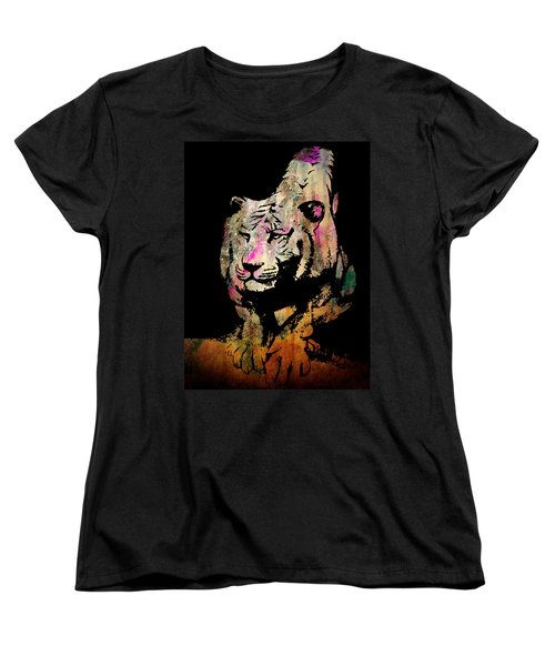 Tiger Collage #1 Women's T-Shirt (Standard Cut) by Kim Gauge