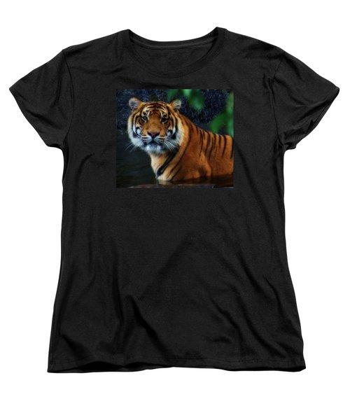 Tiger Land Women's T-Shirt (Standard Cut) by Kym Clarke