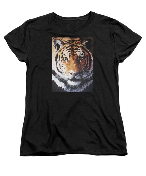 Tiger Portrait Women's T-Shirt (Standard Cut) by Vivien Rhyan