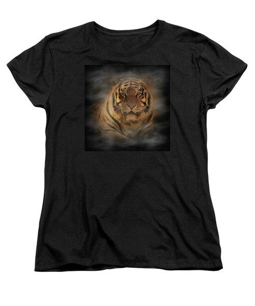 Tiger Women's T-Shirt (Standard Cut) by Sandy Keeton