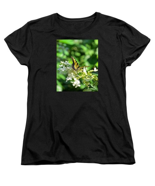 Women's T-Shirt (Standard Cut) featuring the photograph Tiger Swallowtail  by Nancy Patterson