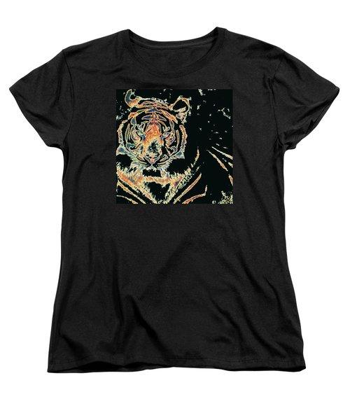 Tiger Tiger Women's T-Shirt (Standard Cut) by Stephanie Grant