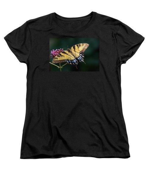 Women's T-Shirt (Standard Cut) featuring the photograph Tigress And Verbena by Byron Varvarigos