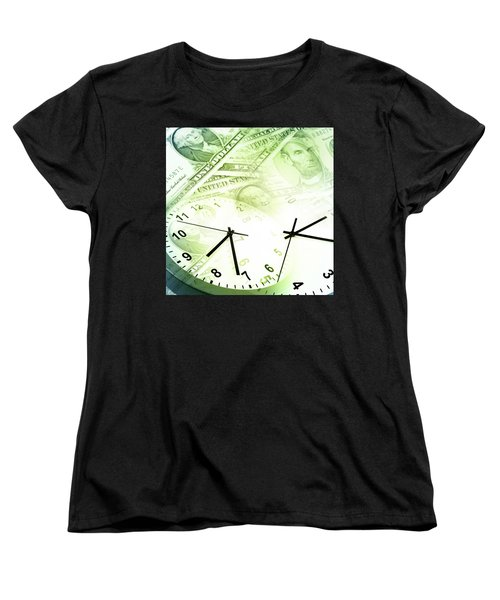 Time Is Money  Women's T-Shirt (Standard Cut) by Les Cunliffe