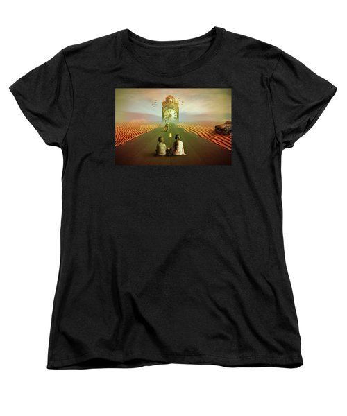 Women's T-Shirt (Standard Cut) featuring the digital art Time To Grow Up by Nathan Wright