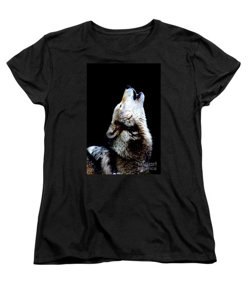 Time To Howl Women's T-Shirt (Standard Cut) by Nick Gustafson