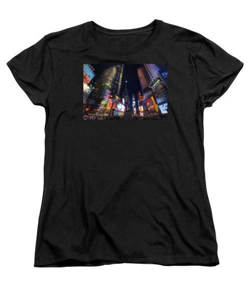 Times Square Moonlight Women's T-Shirt (Standard Cut) by Yhun Suarez