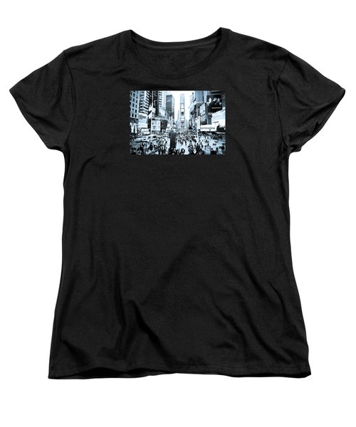 Times Square Women's T-Shirt (Standard Cut) by Perry Van Munster
