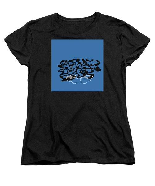 Timpani In Blue Women's T-Shirt (Standard Cut) by David Bridburg