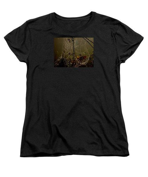 Orb Lites Women's T-Shirt (Standard Cut) by Laura Ragland