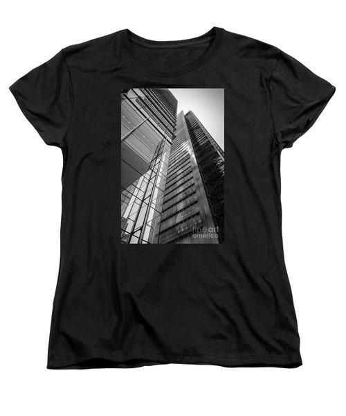 Women's T-Shirt (Standard Cut) featuring the photograph To The Top   -27870-bw by John Bald