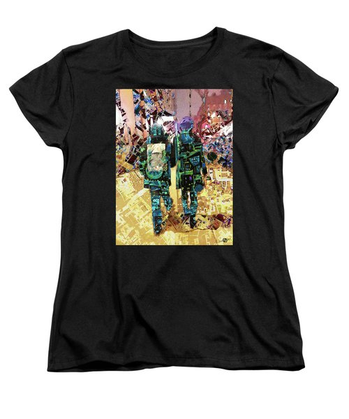Women's T-Shirt (Standard Cut) featuring the painting Together by Tony Rubino