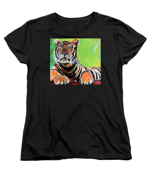 Tom Tiger Women's T-Shirt (Standard Cut) by Tom Riggs