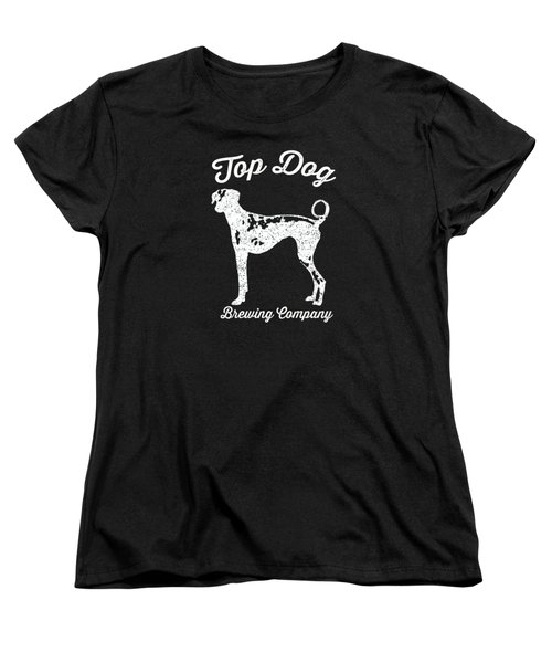 Top Dog Brewing Company Tee White Ink Women's T-Shirt (Standard Cut) by Edward Fielding