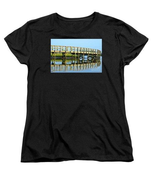 Topsail Island Walk Women's T-Shirt (Standard Cut) by Eva Kaufman