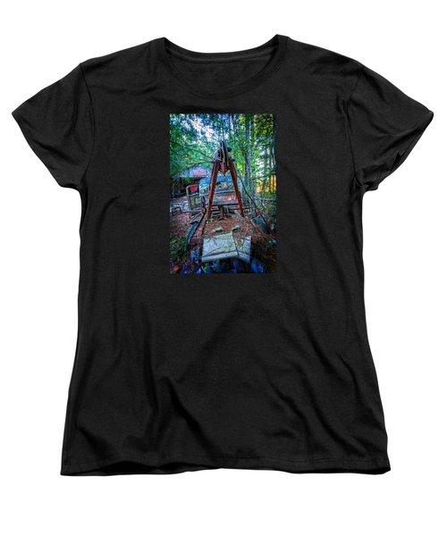 Women's T-Shirt (Standard Cut) featuring the photograph Tow No More by Alan Raasch