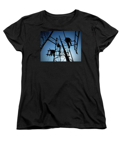 Tower Tech Women's T-Shirt (Standard Cut) by Robert Geary