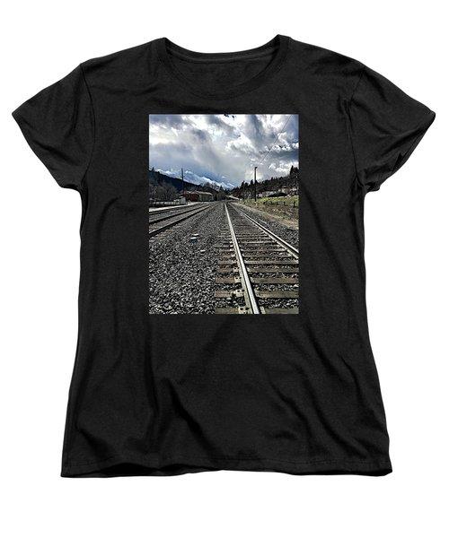 Tracks Women's T-Shirt (Standard Cut) by JoAnn Lense