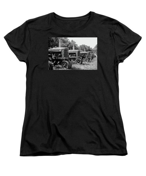 Women's T-Shirt (Standard Cut) featuring the photograph Tractors by Brian Jones