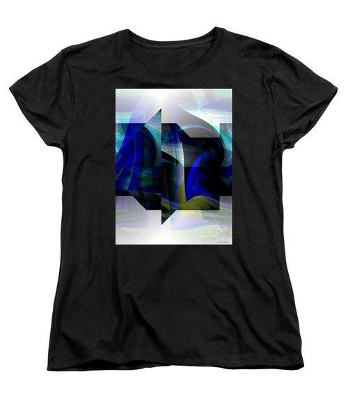 Geometric Transparency  Women's T-Shirt (Standard Cut) by Thibault Toussaint