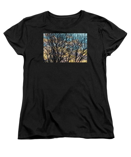 Women's T-Shirt (Standard Cut) featuring the photograph Tree Branches And Colorful Clouds by James BO Insogna