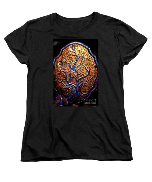 Women's T-Shirt (Standard Cut) featuring the ceramic art Tree Of Life by Susanne Still