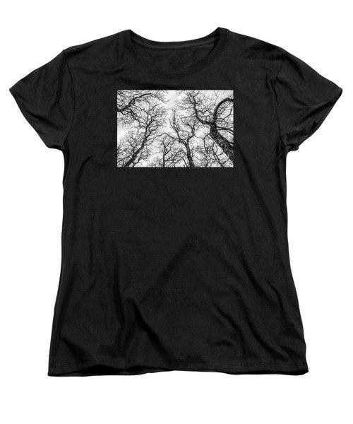 Tree Tops Women's T-Shirt (Standard Cut) by Sue Smith