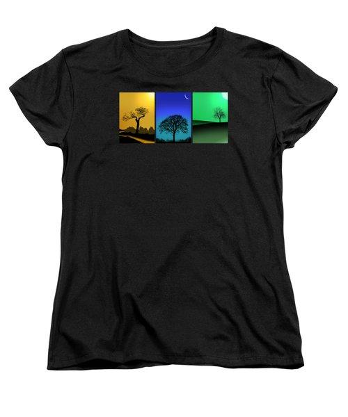 Tree Triptych Women's T-Shirt (Standard Fit)