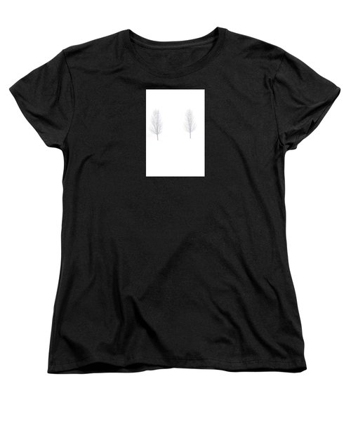Trees And Snow Women's T-Shirt (Standard Cut) by Daniel Thompson