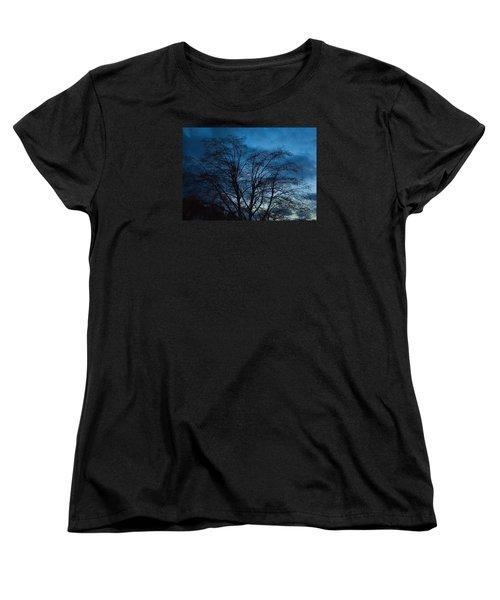 Trees At Dusk Women's T-Shirt (Standard Cut) by John Rossman
