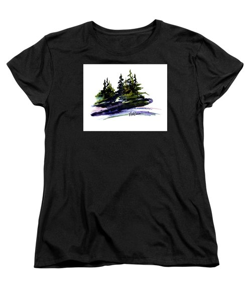 Trees Women's T-Shirt (Standard Cut) by Marti Green