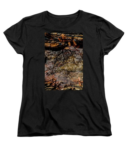 Women's T-Shirt (Standard Cut) featuring the photograph Tree's Reflection by Iris Greenwell