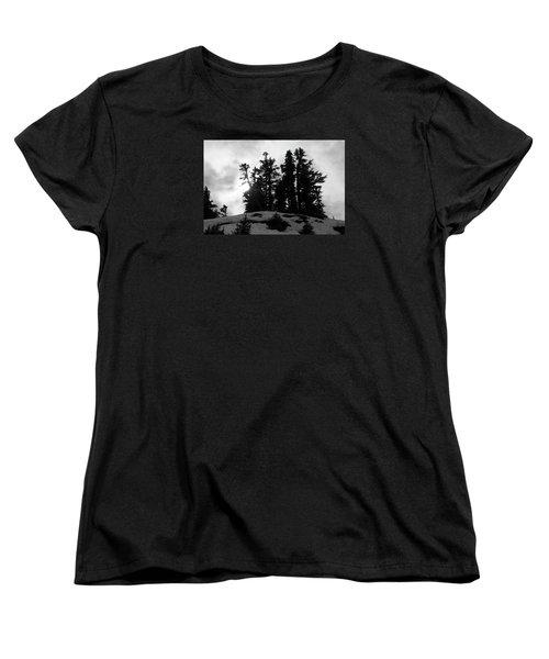 Women's T-Shirt (Standard Cut) featuring the photograph Trees Silhouettes by Yulia Kazansky