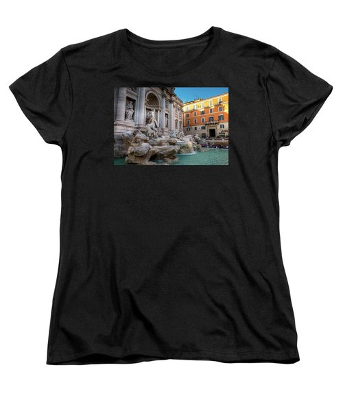Trevi Fountain Women's T-Shirt (Standard Cut) by Fink Andreas