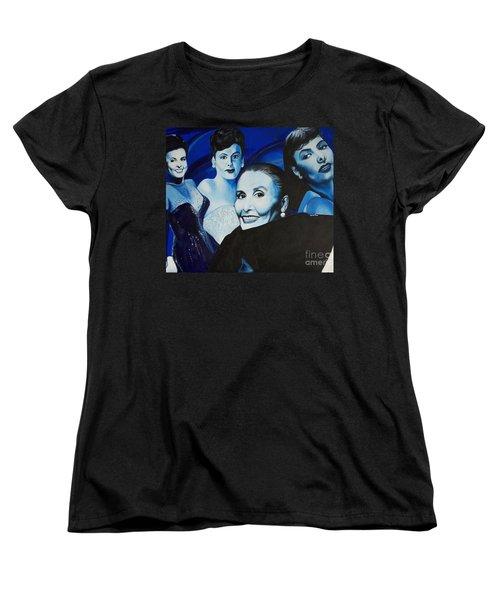 Tribute To Lena Horne Women's T-Shirt (Standard Cut) by Chelle Brantley